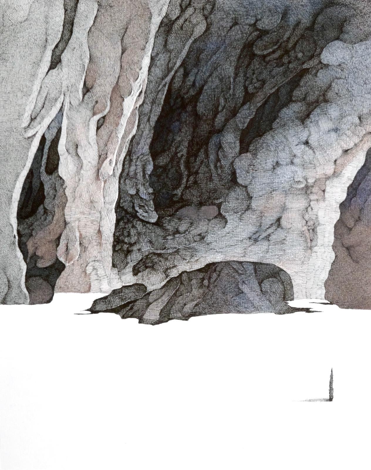 Min Jung-Yeon, Quinze jours sans boire K17070, 32x25,5cm, détail encre de Chine et crayon de couleur sur papier 2014.