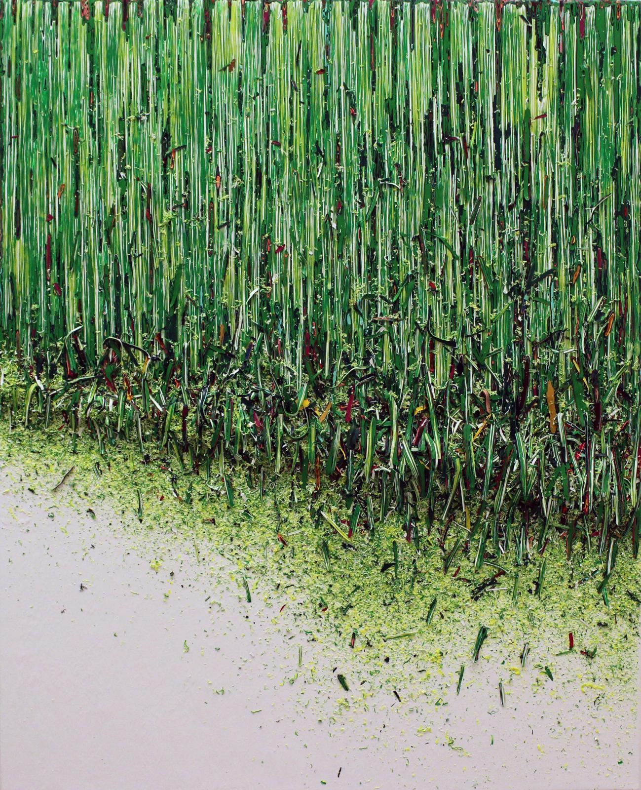 Hur Kyung-Ae, Sans titre, 2018, acrylique sur toile, 100x81cm.