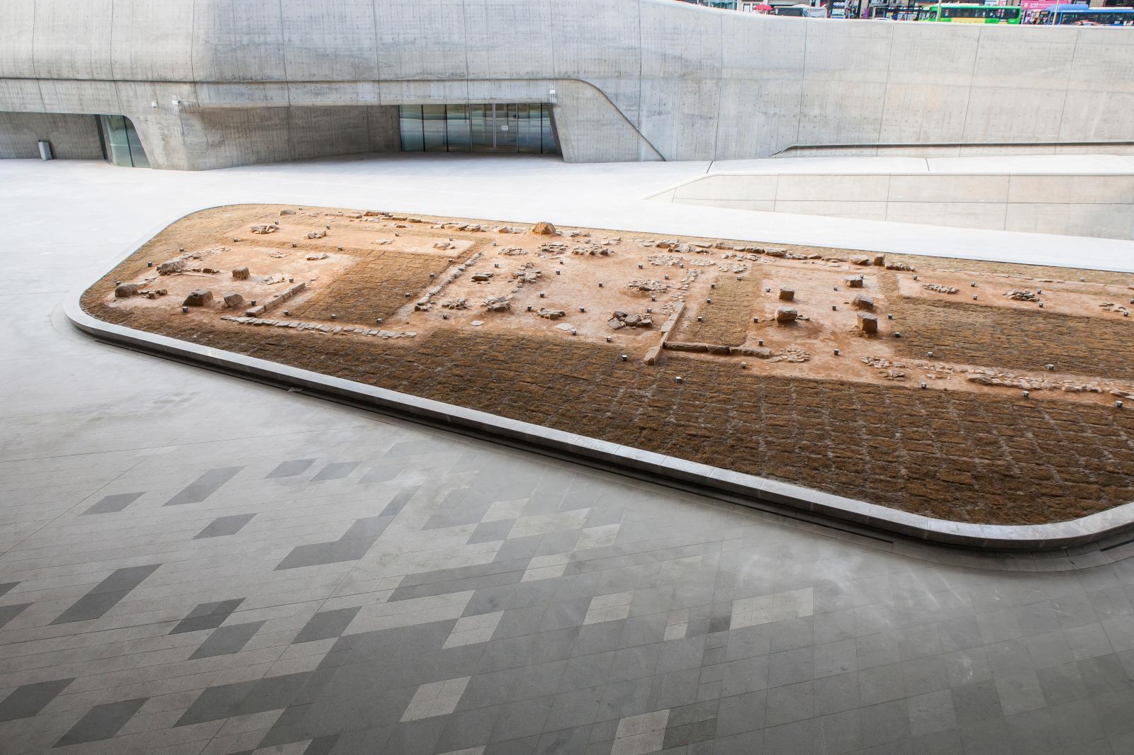 Zone archéologique, Oullim Square, Dongdaemun Design Plaza, DDP.