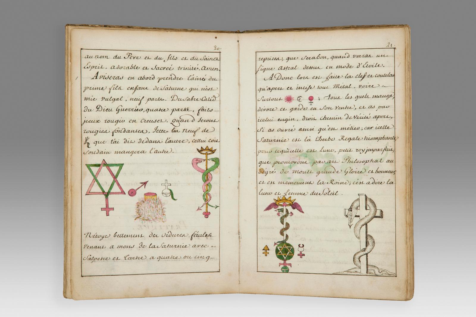 Le Trésor des trésors, 18th century manuscript copy of the Testament alchimique by Nicolas Flamel (1340-1418), 57 pages.Estimate: €5,000/6