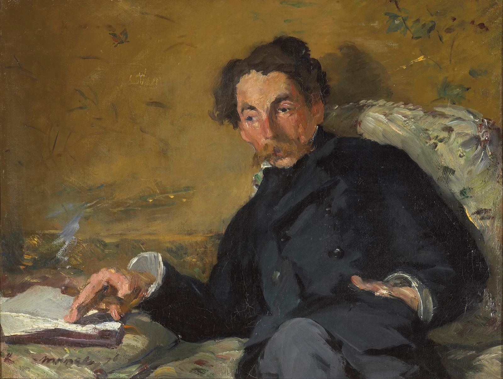 Édouard Manet (1832-1883), Stéphane Mallarmé, 1876, huile sur toile, 27,5x36cm, Paris, musée d'Orsay.Photo © RMN-Grand Palais (musée d'