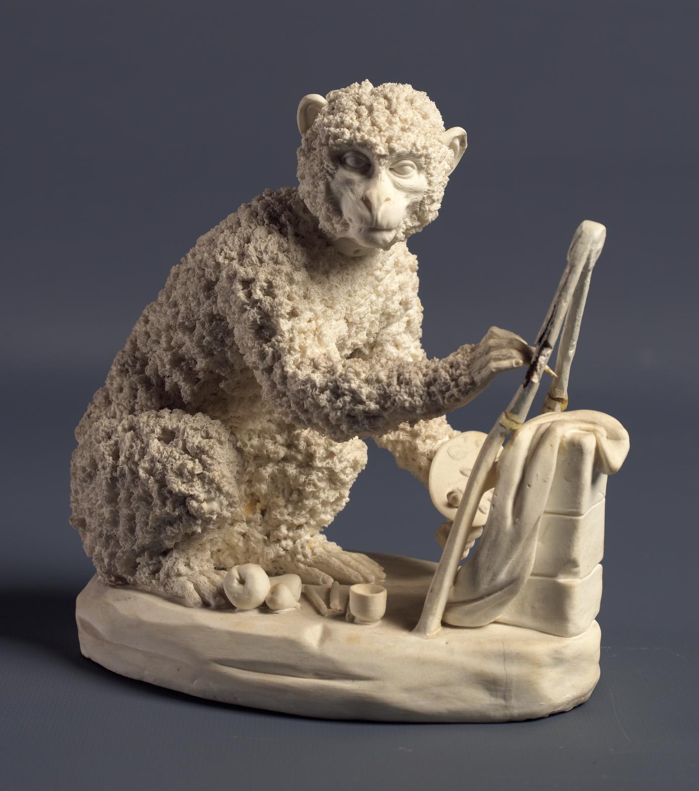 Le Quattro arti liberali (La Pittura), 1790-1800, biscuit de porcelaine, fabrique royale de Naples. © Luciano Romano