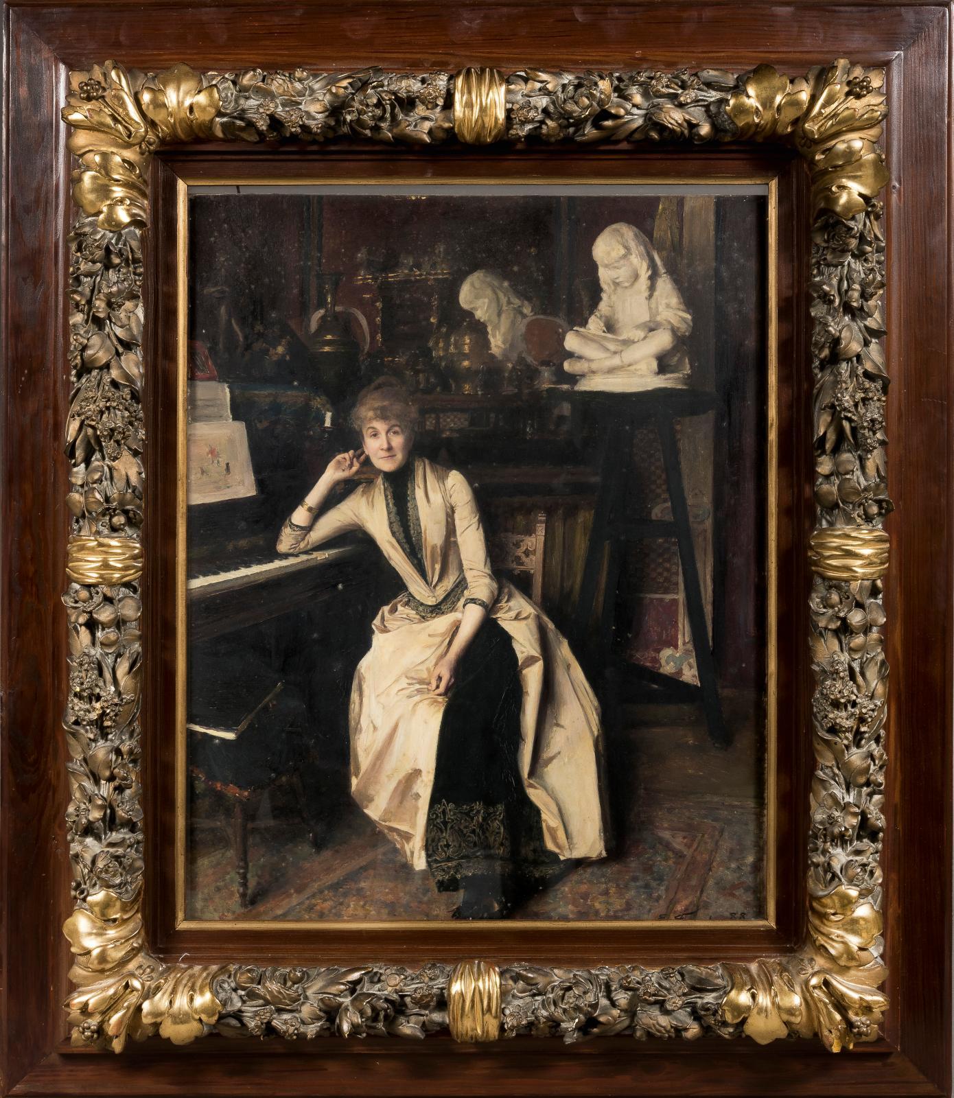 Émile Friant, Portrait de Madame Gustave Paul, 1888, huile sur panneau, 54,5x45cm. Adjugé: 122360€