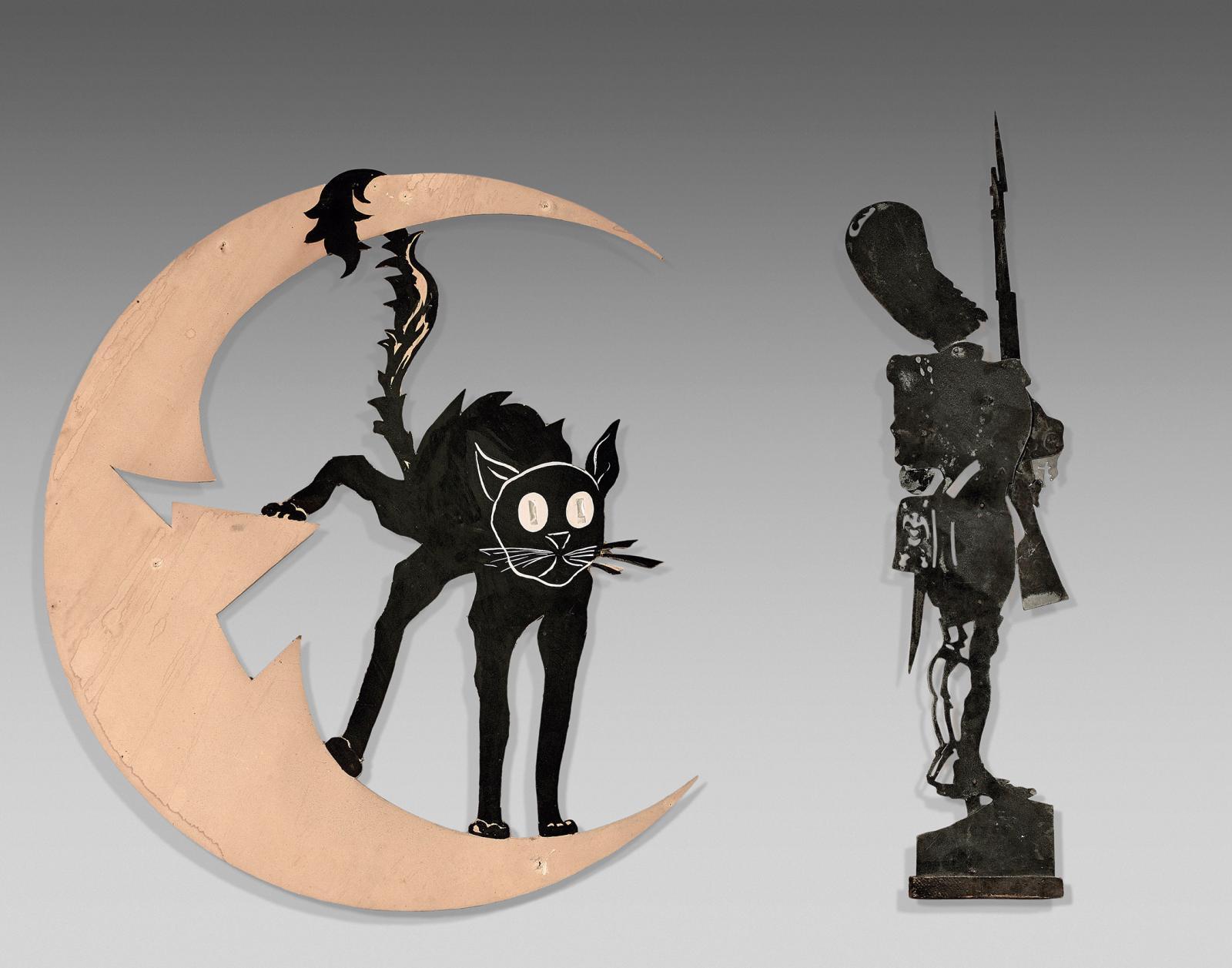 Emmanuel Poiré dit Caran d'Ache (1858-1901), silhouette découpée en carton, Le Chat Noir, d'après l'enseigne créée par Adolphe Willette, 5