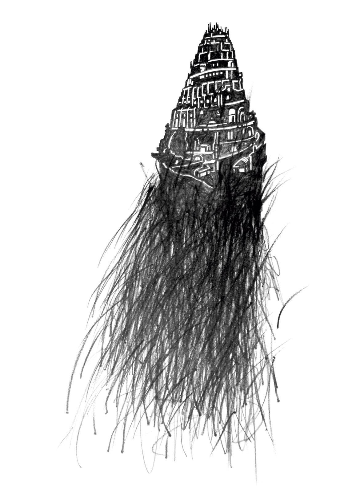 Françoise Schein, Babel, 2016, mine de plomb, 59x42cm.©Photo galerie 5 Contemporary