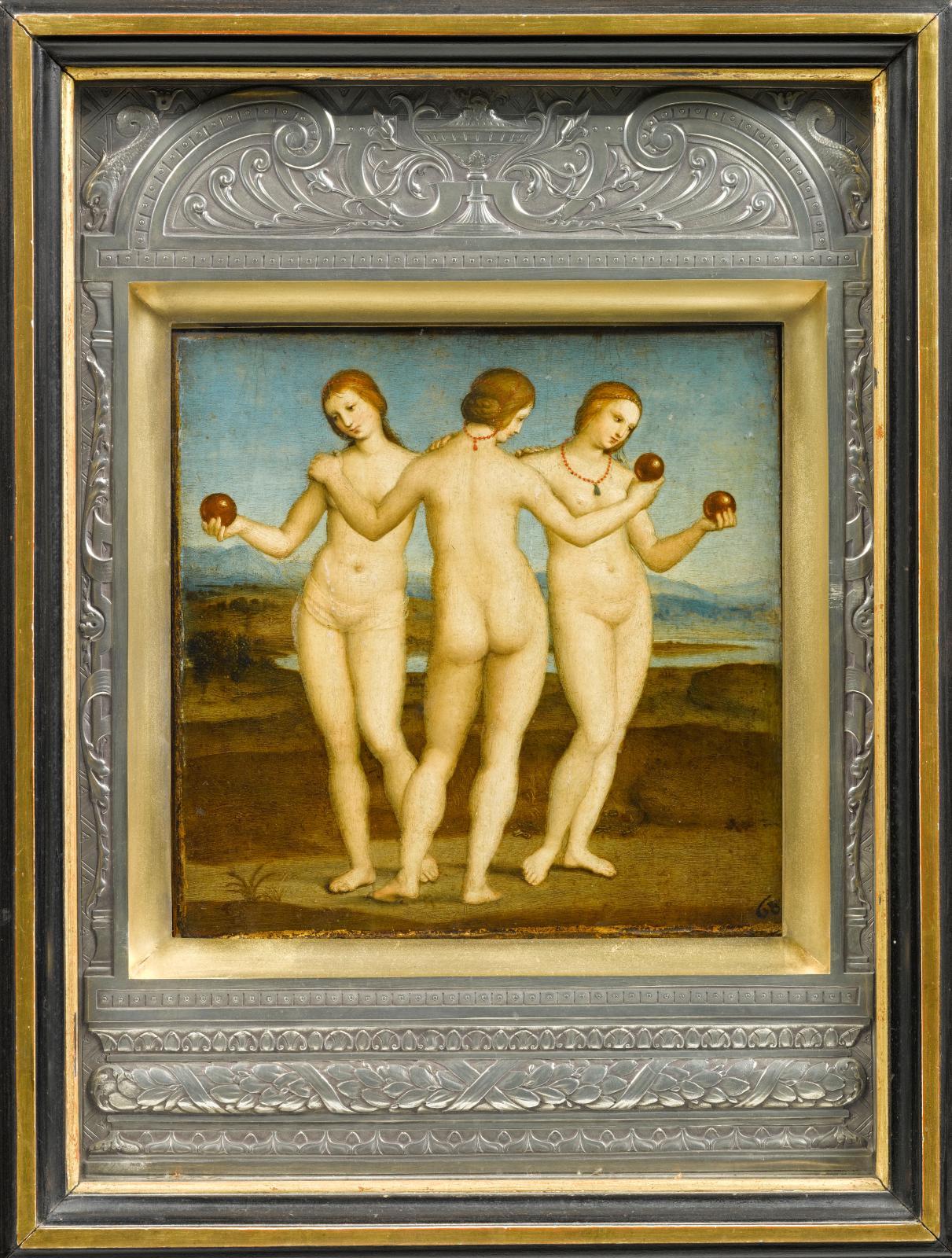 Raphaël (1483-1520), Les Trois Grâces, vers 1504-1505. ©RMN-Grand Palais (domaine de Chantilly)/Harry Bréjat