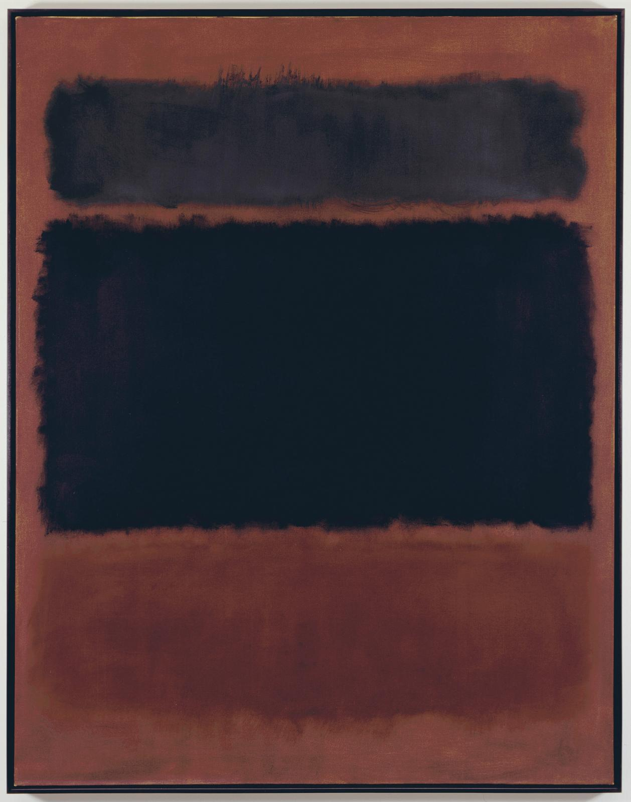 Mark Rothko (1903-1970), Black in Deep Red, 1957, huile sur toile, (176,2 cm x 136,5 cm).© 1998 KATE ROTHKO PRIZEL & CHRISTOPHER ROTHKO -