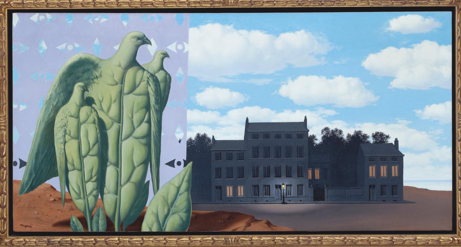 René Magritte, Le Domaine enchantéI, 1953, huile sur toile, 70x138cm. ©Collection Würth, Inv. 9252