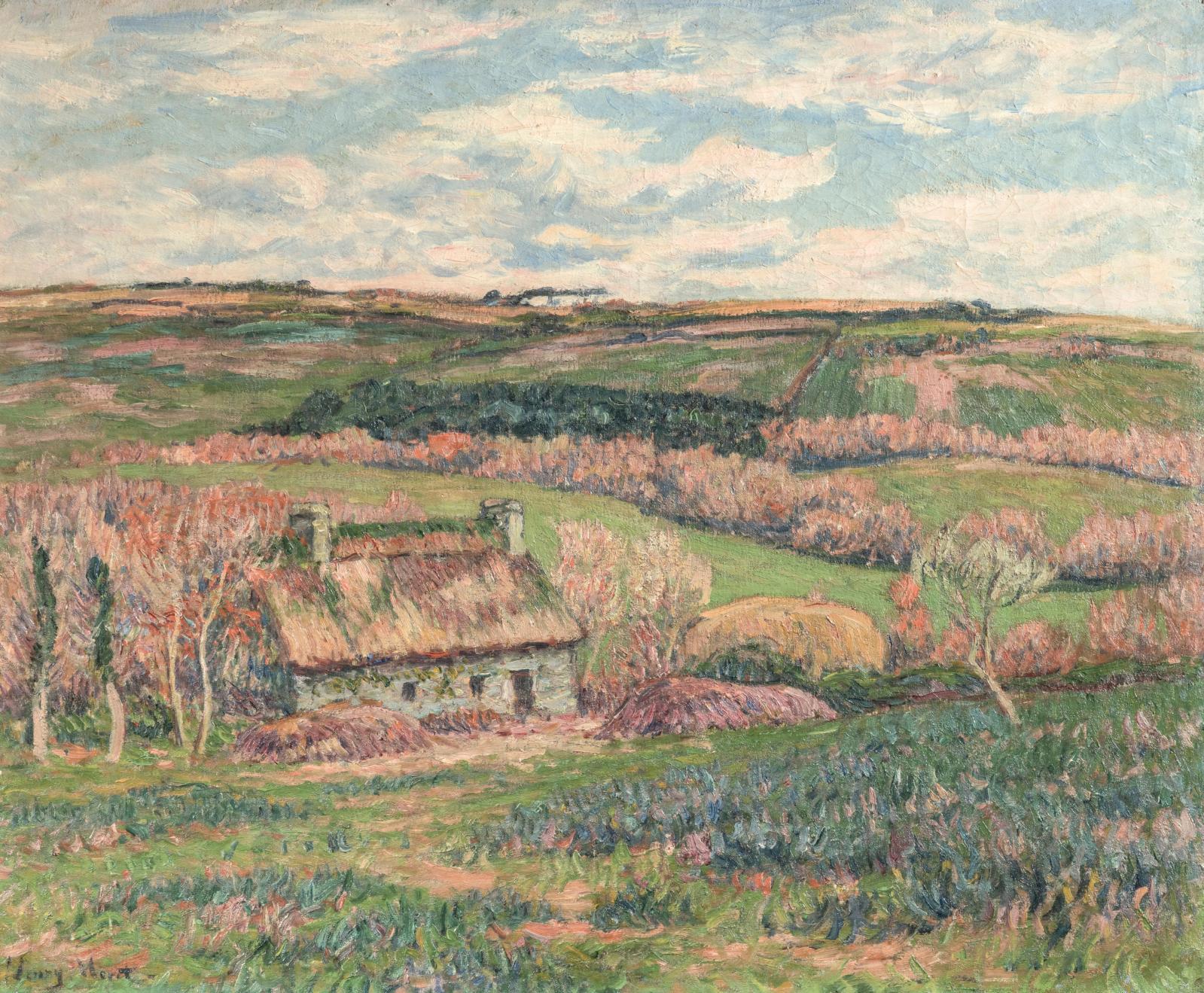 Henry Moret (1856-1913), Chaumière aux environs de Doëlan, vers 1910-1911, huile sur toile, 60x74cm. Estimation: autour de 40000€