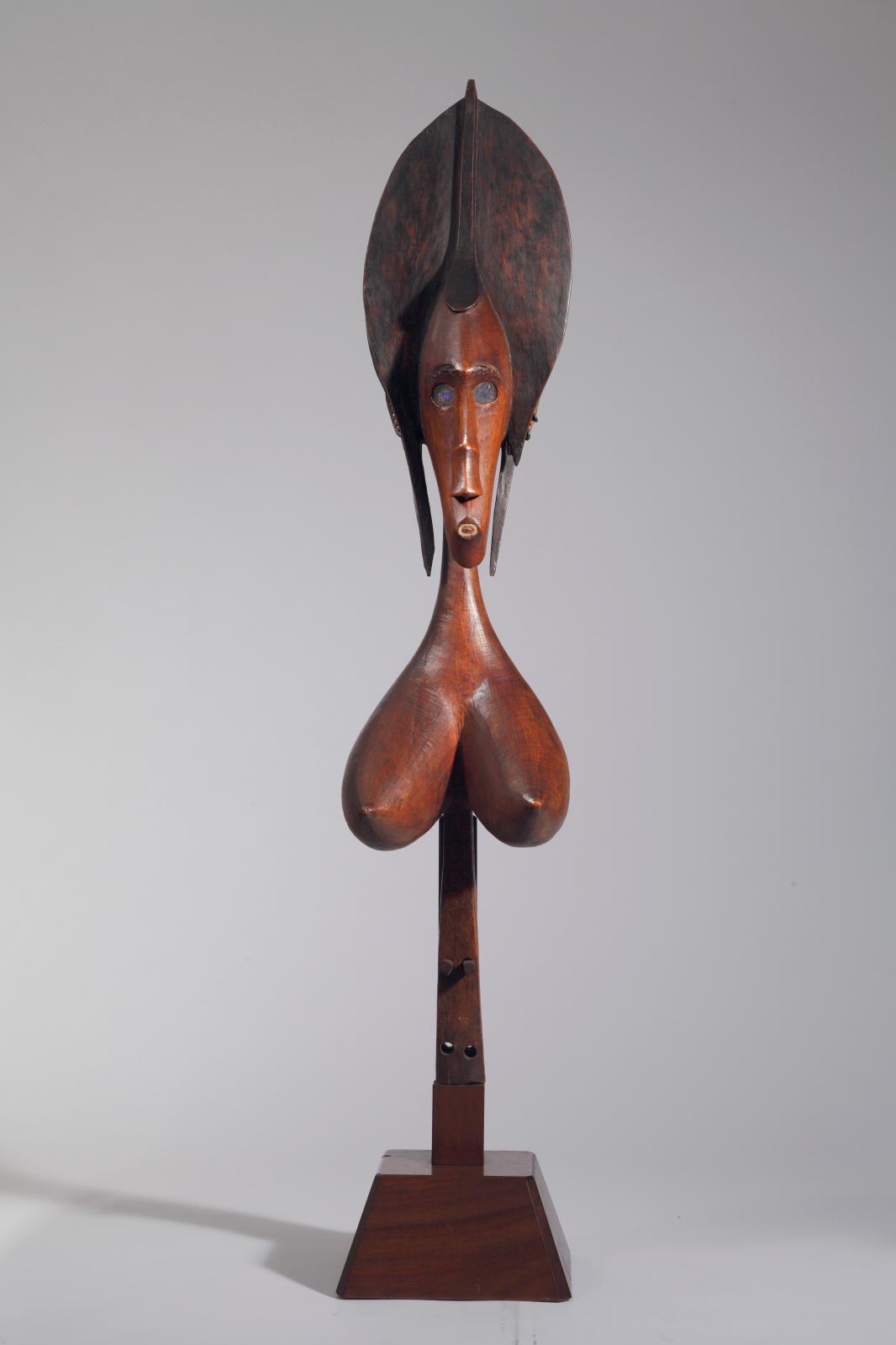 Bamana, Mali, région de Koutiala, XIXe-début du XXesiècle. Marionnette féminine Sogo Bo. © Collection Malcolm, Tenafly, avec l'aimable au