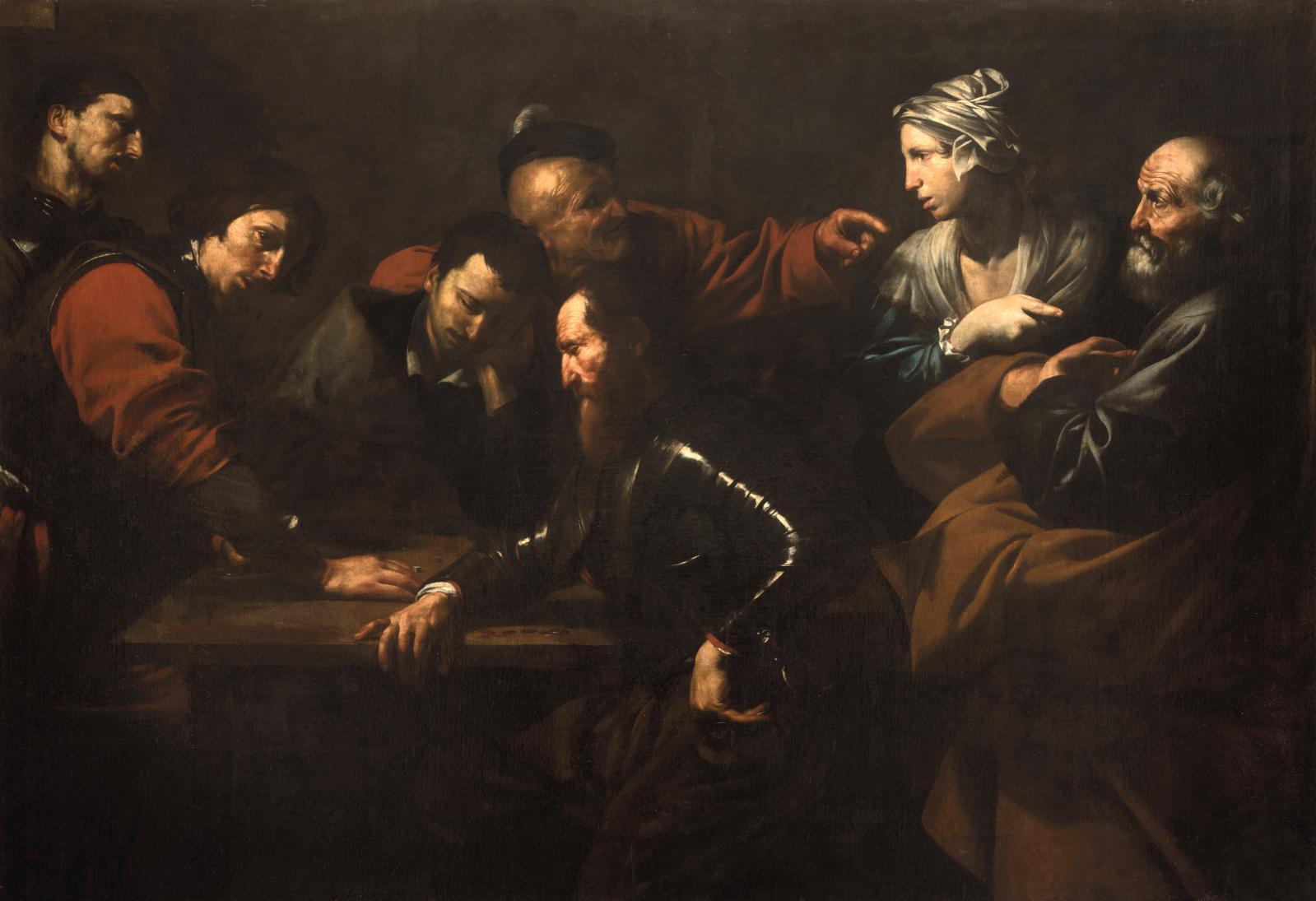 Jusepe de Ribera, Le Reniement de saint Pierre, 163 x 233 cm.Rome, Galleria nazionali d'arte antica, Palazzo Corsini.© Galleria nazionali
