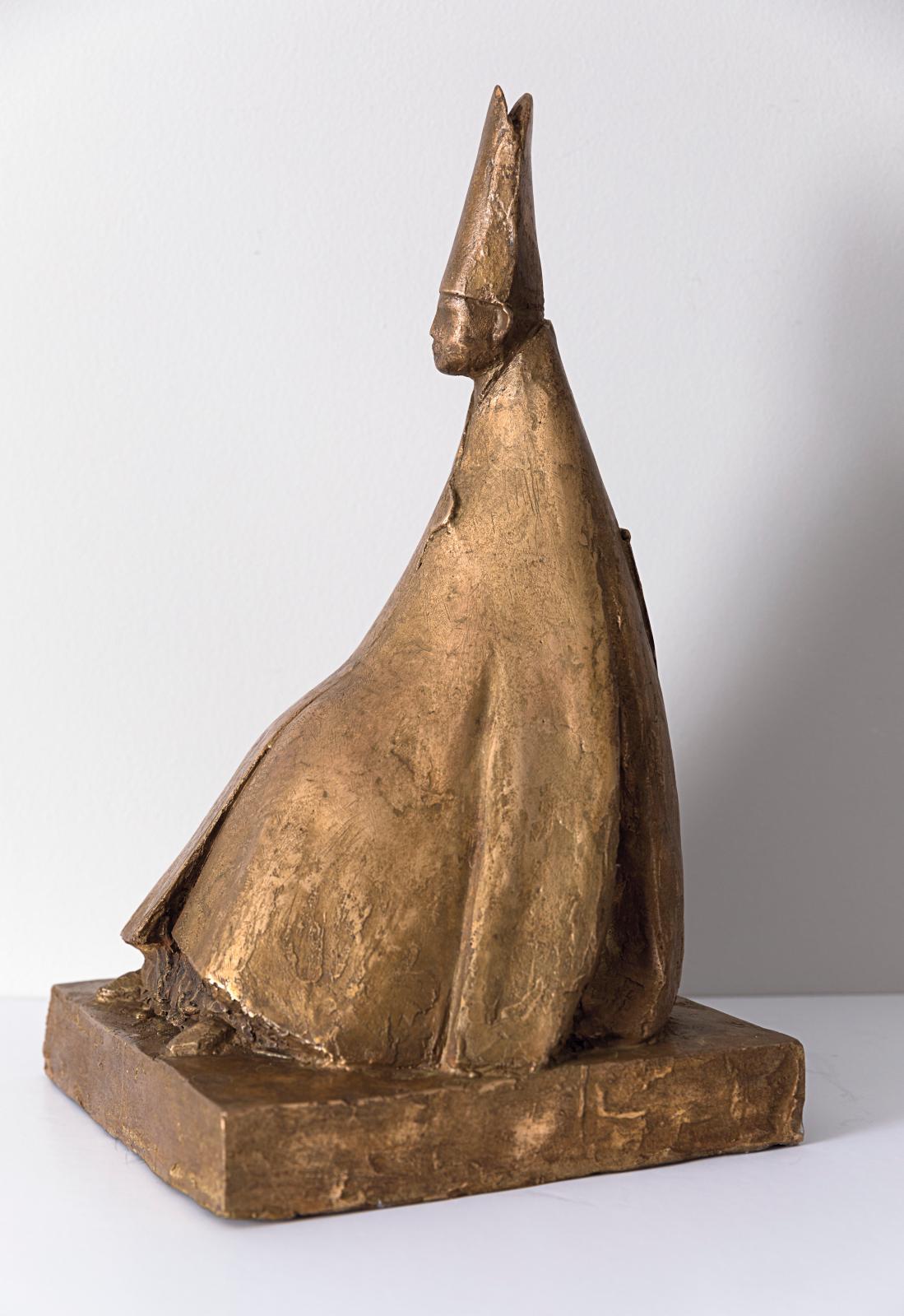 Giacomo Manzù (1908-1991), Cardinale seduto, 1972, bronze, 41x23x23,50cm. © Rosenberg & Co