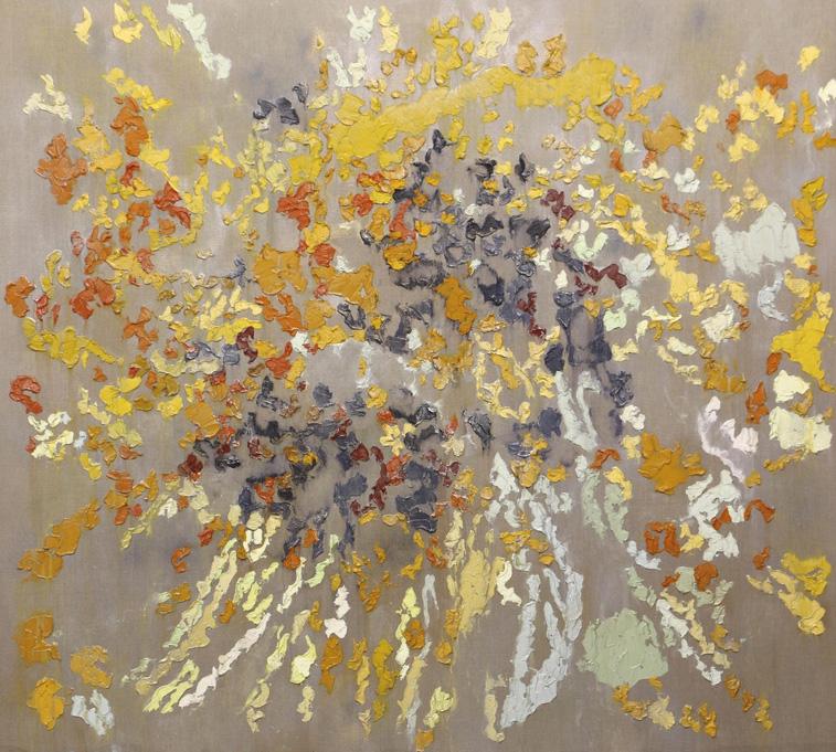Brendan Stuart Burns (né en 1963), Twinge, 2016, oil and wax on linen, 180 x 200 cm.© Rosenberg & Co