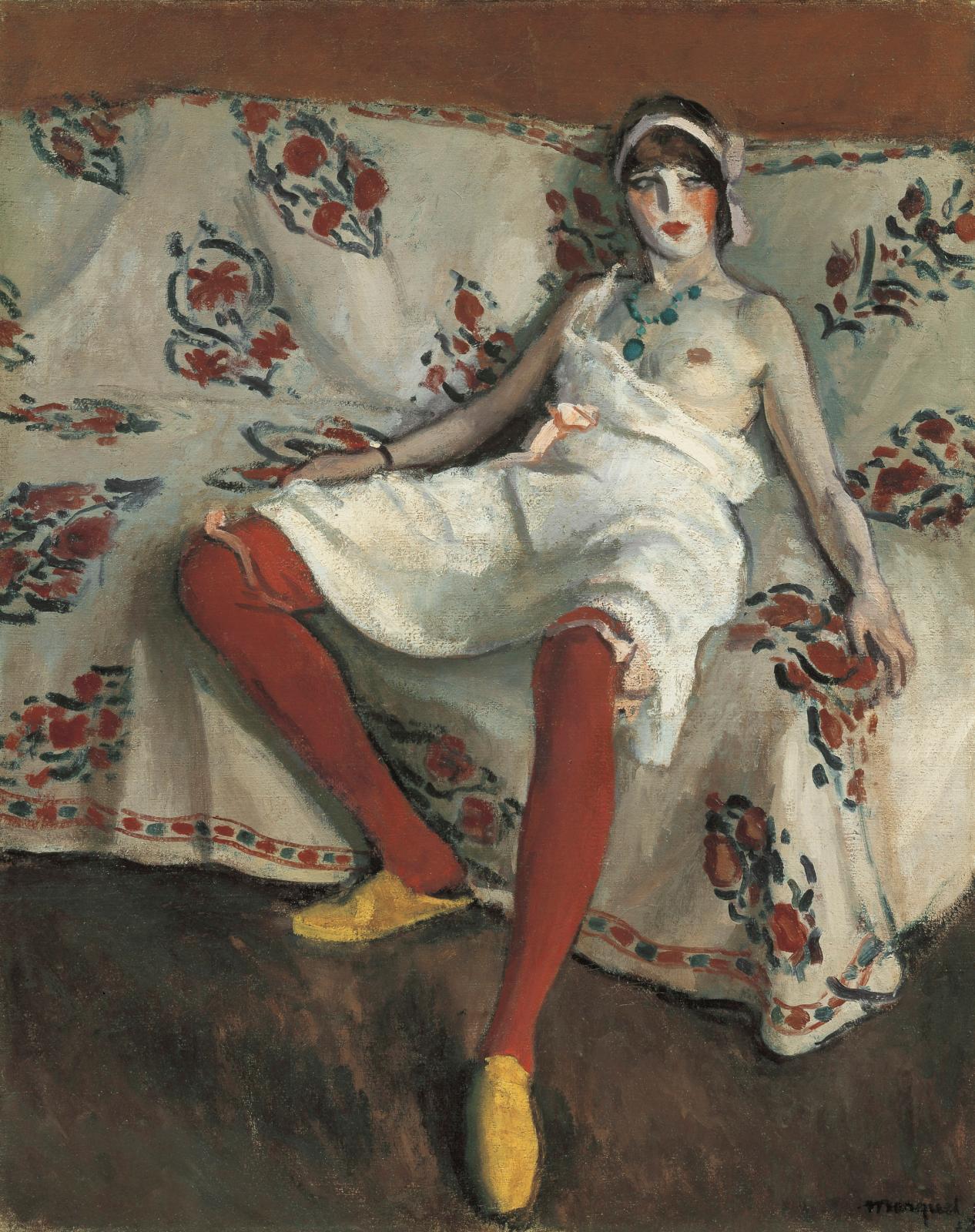 Albert Marquet (1875-1947), Les Bas rouges, 1912, huile sur toile, 81,3x65cm. ©Droits réservés