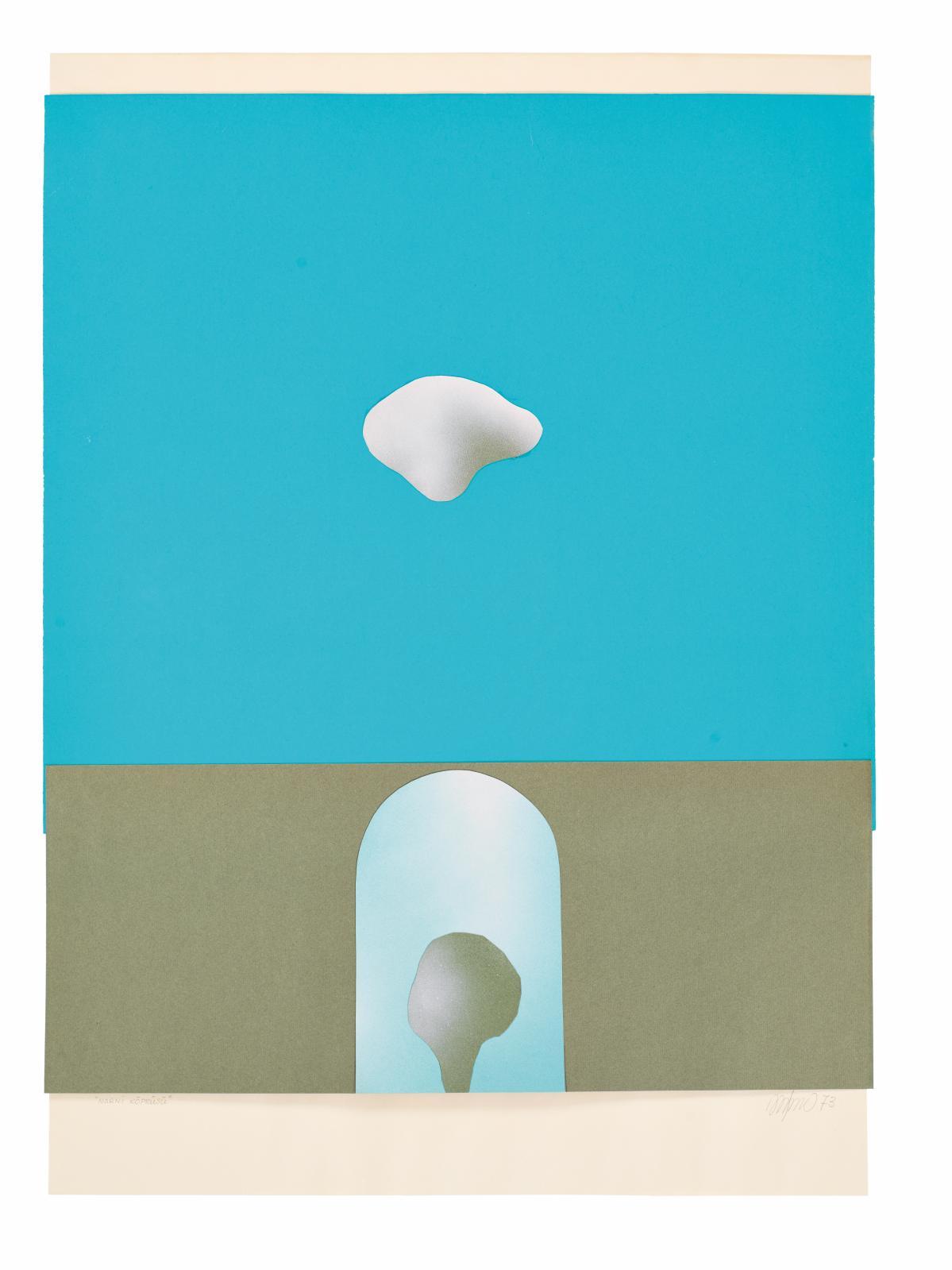 Altan Gürman (1935-1976), Le Pont de Narni, 1972, peinture sur papier, 70x50cm. © Hadiye Cangökçe