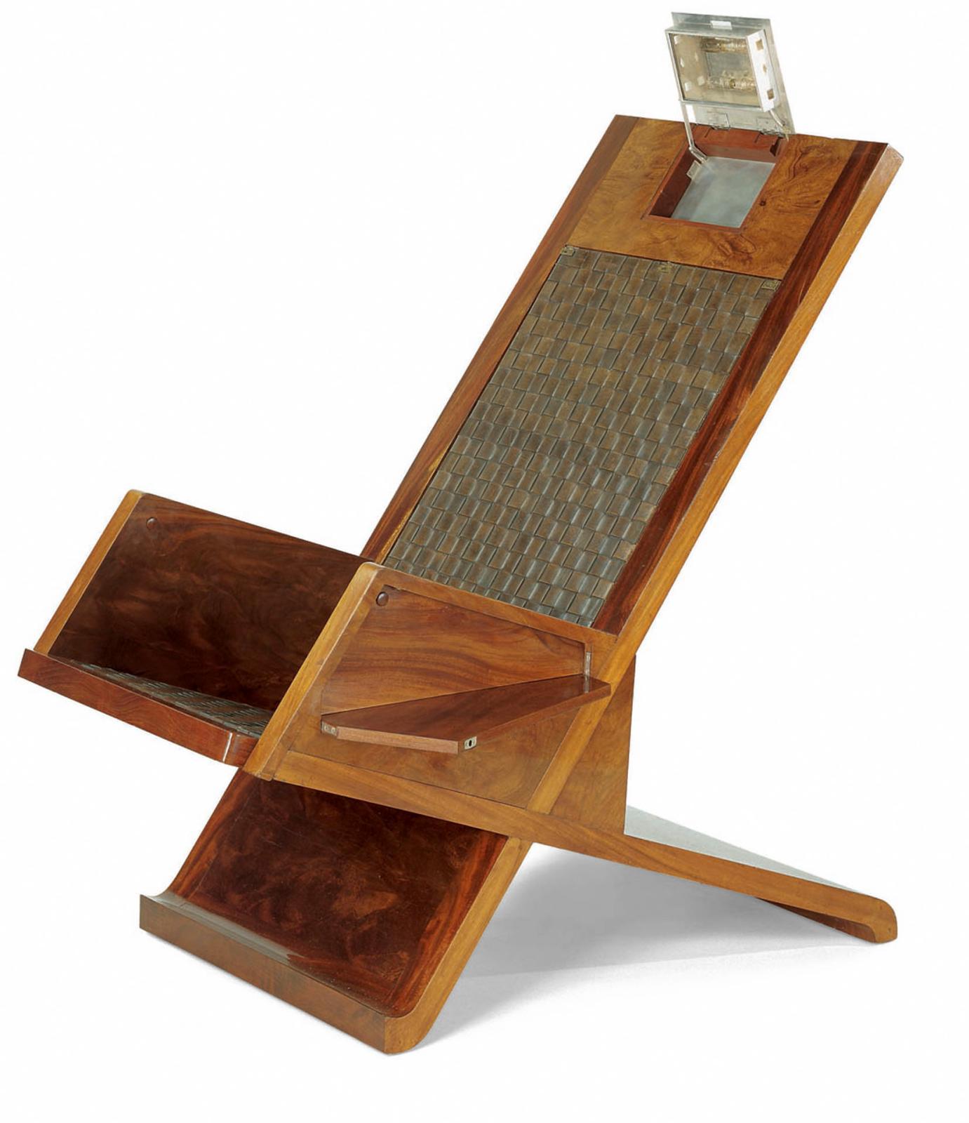 Pierre Legrain et Roumy, fauteuil de repos, vers 1925-1928, Paris, musée des Arts décoratifs, don Jean-Édouard Dubrujeaud en souvenir de J