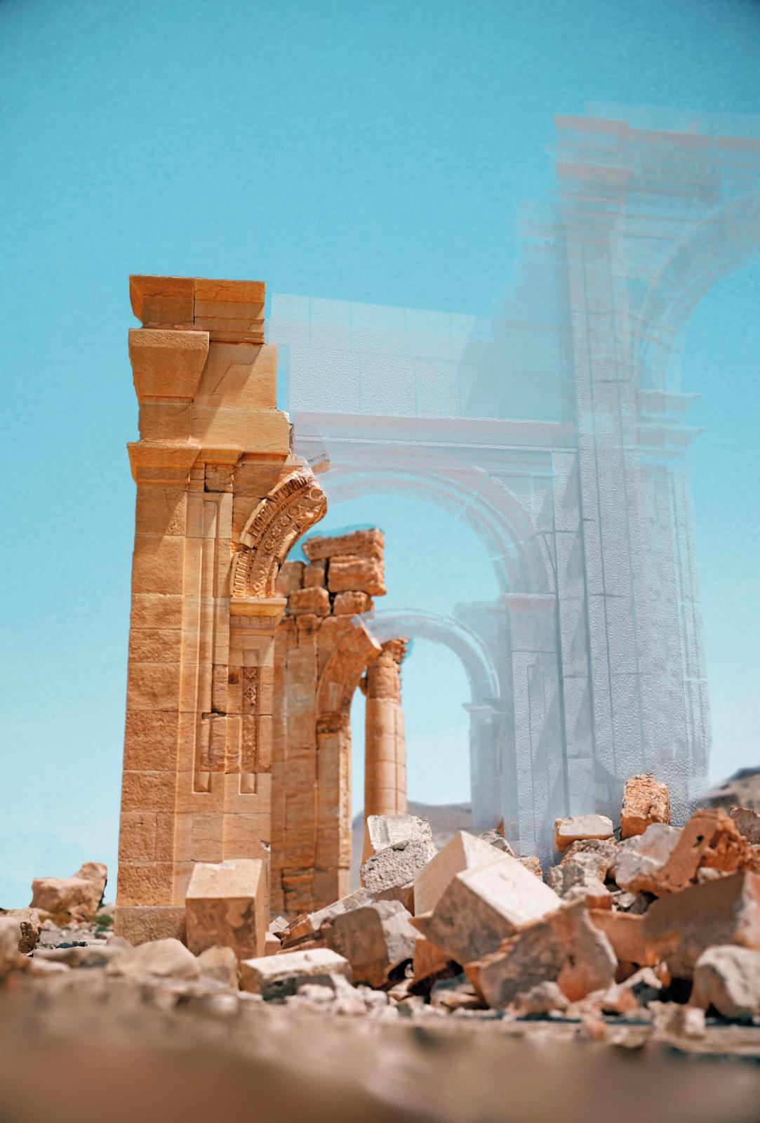 Arche de Palmyre, reconstruction 3D image 3D. ©Iconem, DGAM