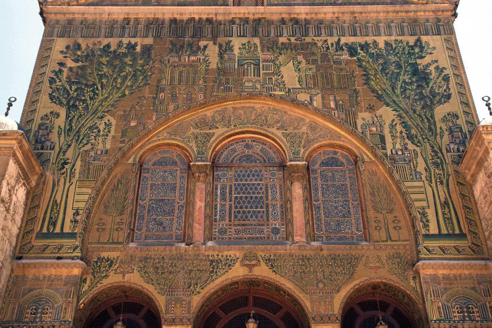Mosquée des Omeyyades, vue cour image 3D. ©Iconem, DGAM