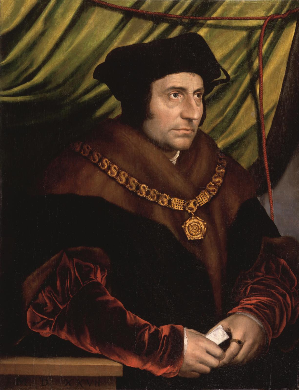 Portrait de sir Thomas More, Hans Holbein leJeune, vers 1527, Londres. ©National Gallery