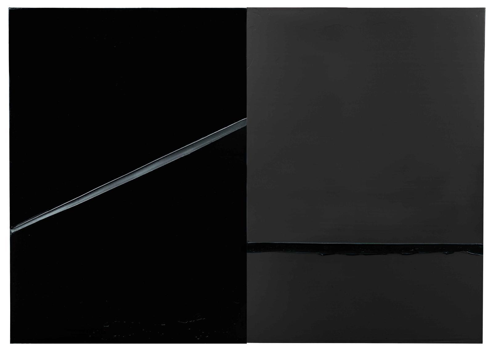 Pierre Soulages, Peinture, 222x314cm, 24février 2008,Paris, Pierre Soulages. © Archives Soulages © ADAGP, Paris 2019