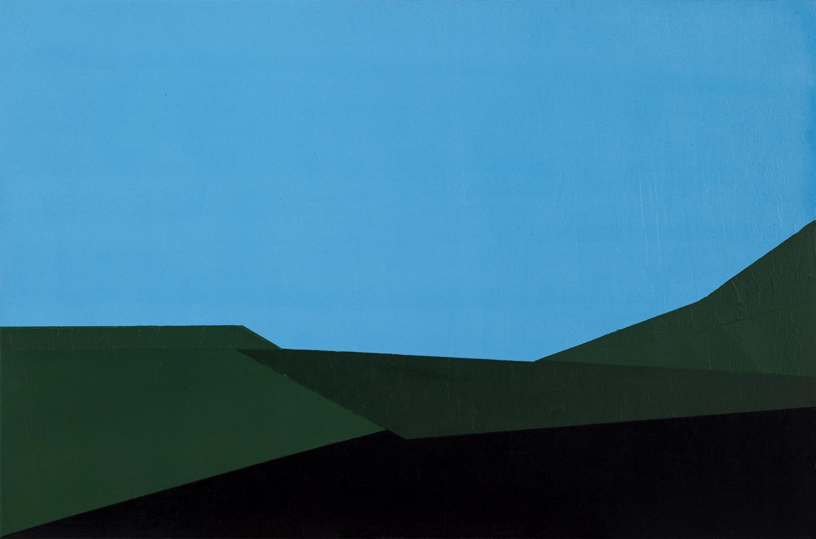 Soufiane Idrissi, Garden After MSDOS 5, 2011, huile sur toile, 50x70cm. COURTESY SOUFIANE IDRISSI