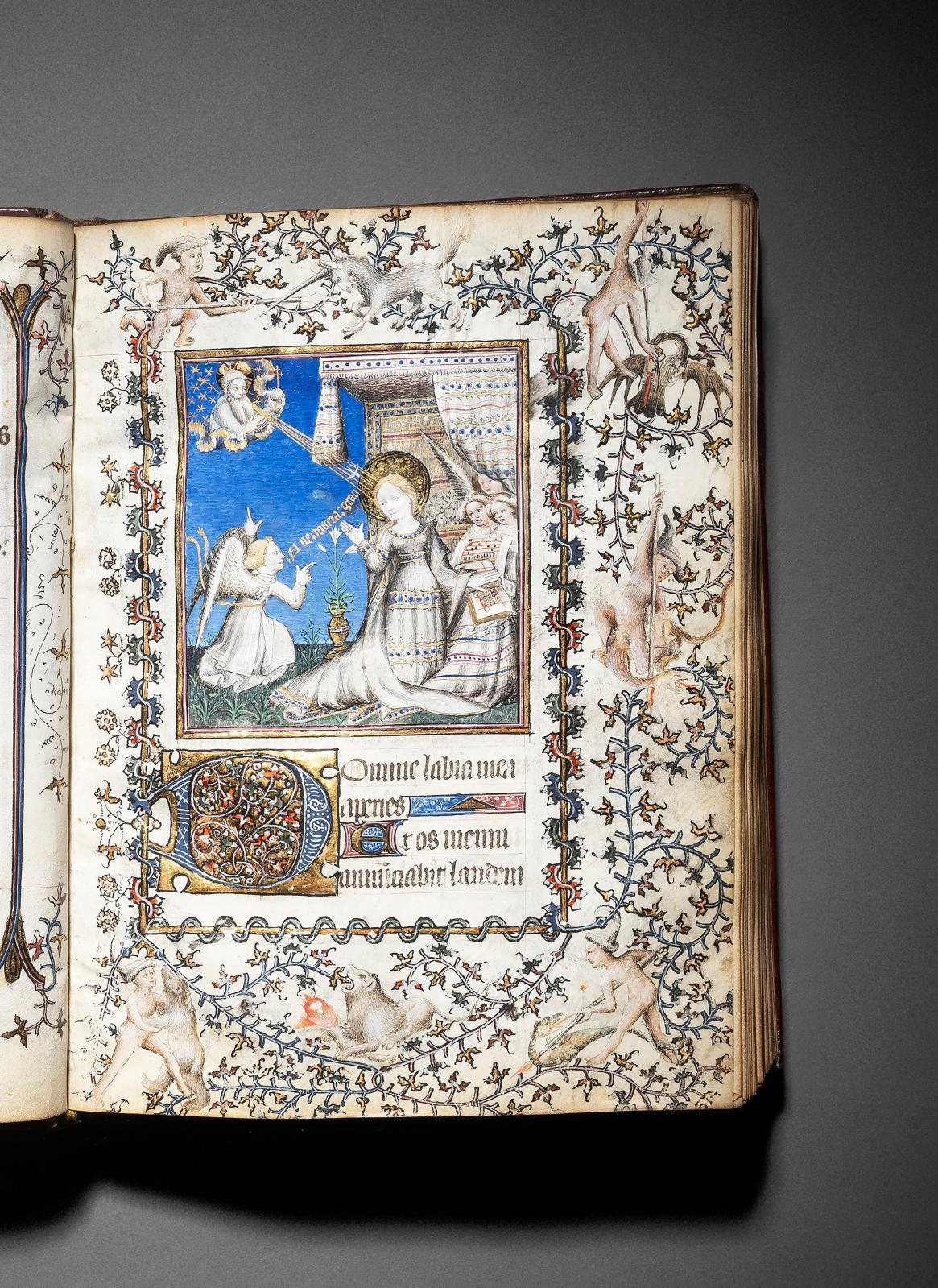 France, Paris, vers1400-1410, Livre d'heures à l'usage de Rome (Heures de la Vierge et Office des Morts), manuscrit en latin enluminé sur
