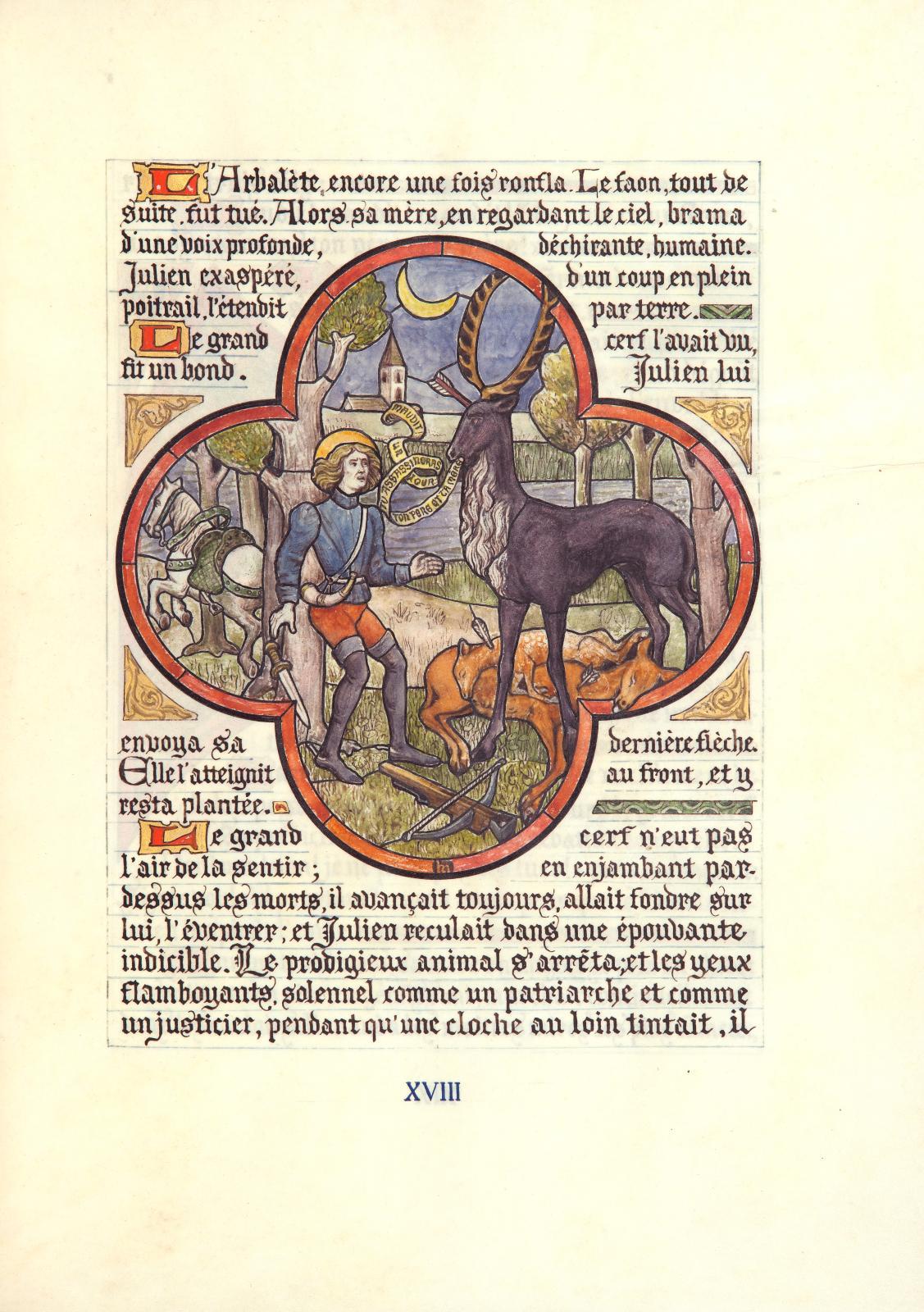 Gustave Flaubert (1821-1880)- Henri Malteste, dit Malatesta (1870-1920), La Légende de saint Julien l'Hospitalier. Écrite, enluminée et h