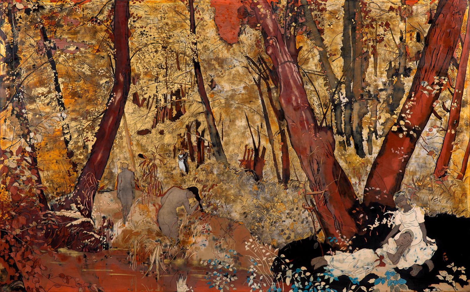 Représentation du paradis terrestre? Lorsqu'elle séjourne au Japon en 1928, Alix Aymé (1894-1989), installée à Hanoï depuis sept ans, se