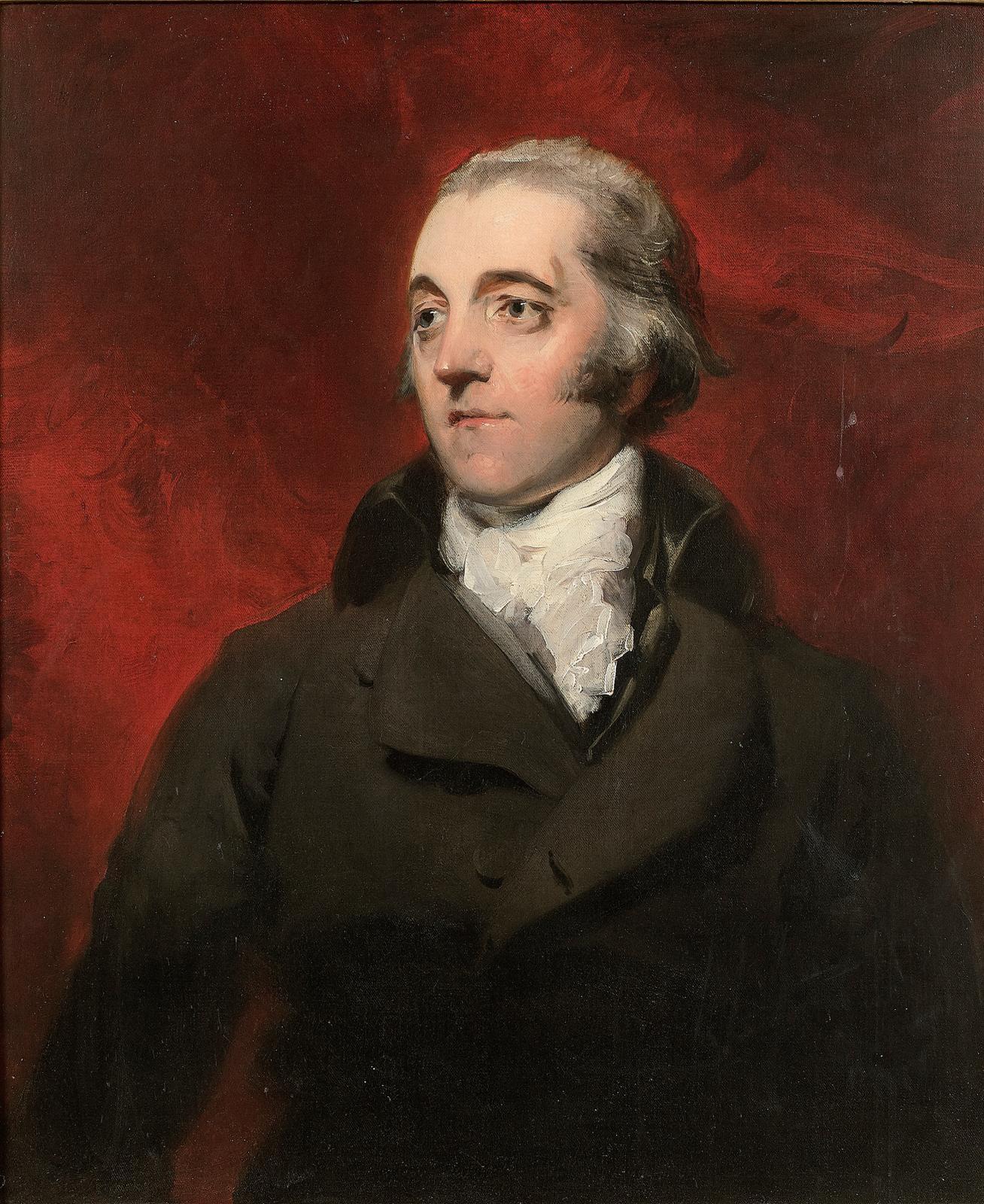 Sir Thomas Lawrence (1769 -1830), Portrait du révérend John Kenward Shaw-Brook, toile marouflée sur panneau parqueté, 77x65cm. Adjugé: