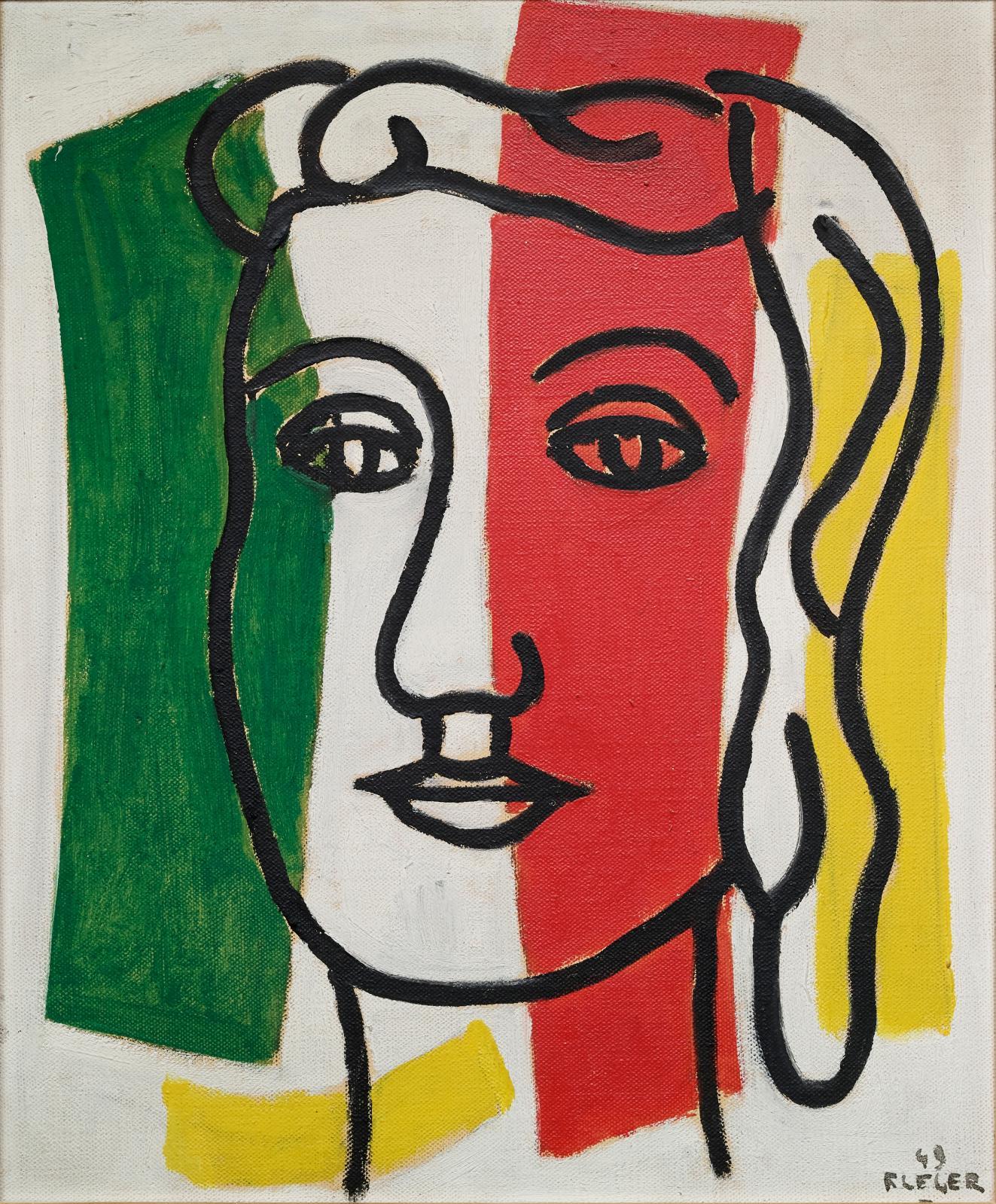 Fernand Léger (1881-1955), Portrait de Marguerite Lesbats (Portrait of Marguerite Lesbats), 1949, oil on canvas, 46 x 38 cm.Estimate: €200