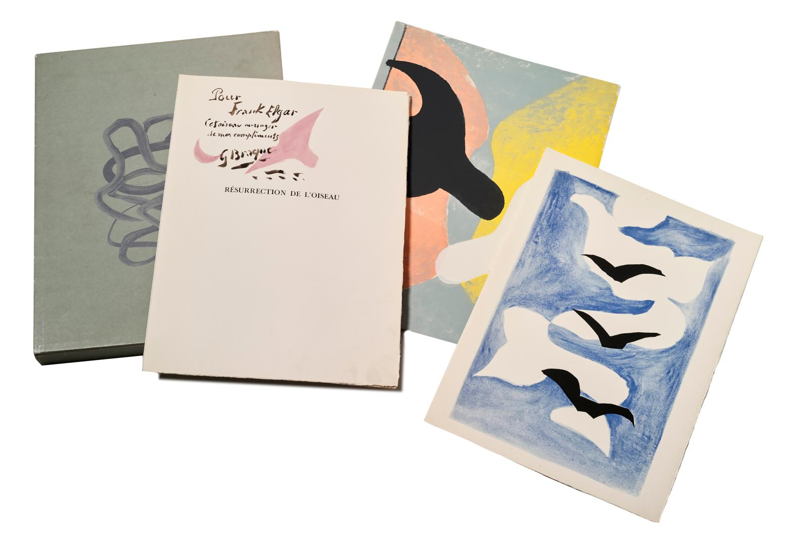 Frank Elgar (1899-1978), Résurrection de l'oiseau (Resurrection of the Bird) , Maeght Éditeur Paris, 1958, illustrations by Georges Braque