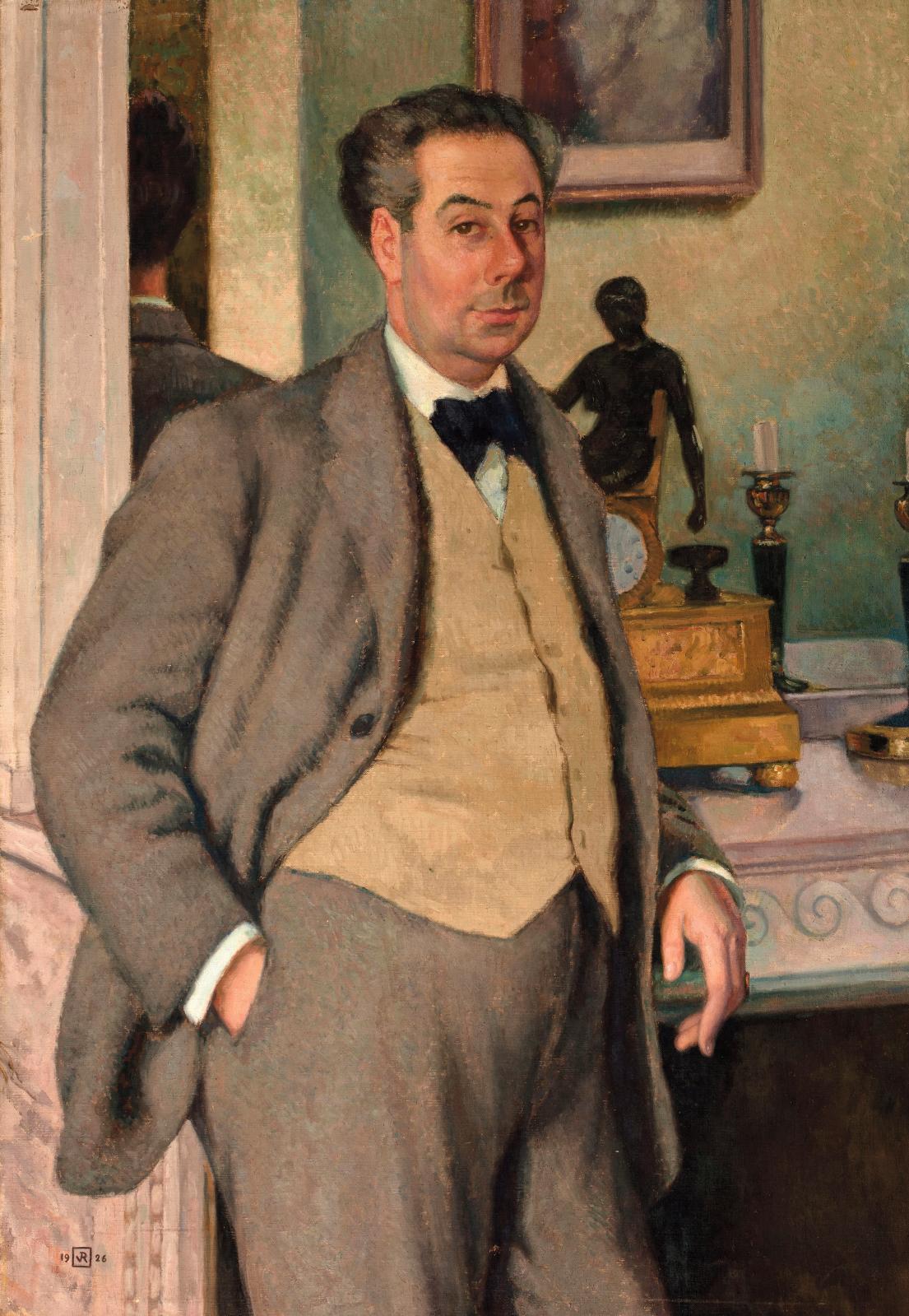 Theo Van Rysselberghe (1862-1926), Portrait de Roger Martin du Gard, 1926, huile sur toile, 116x81,5cm (détail). Estimation: 15000/25