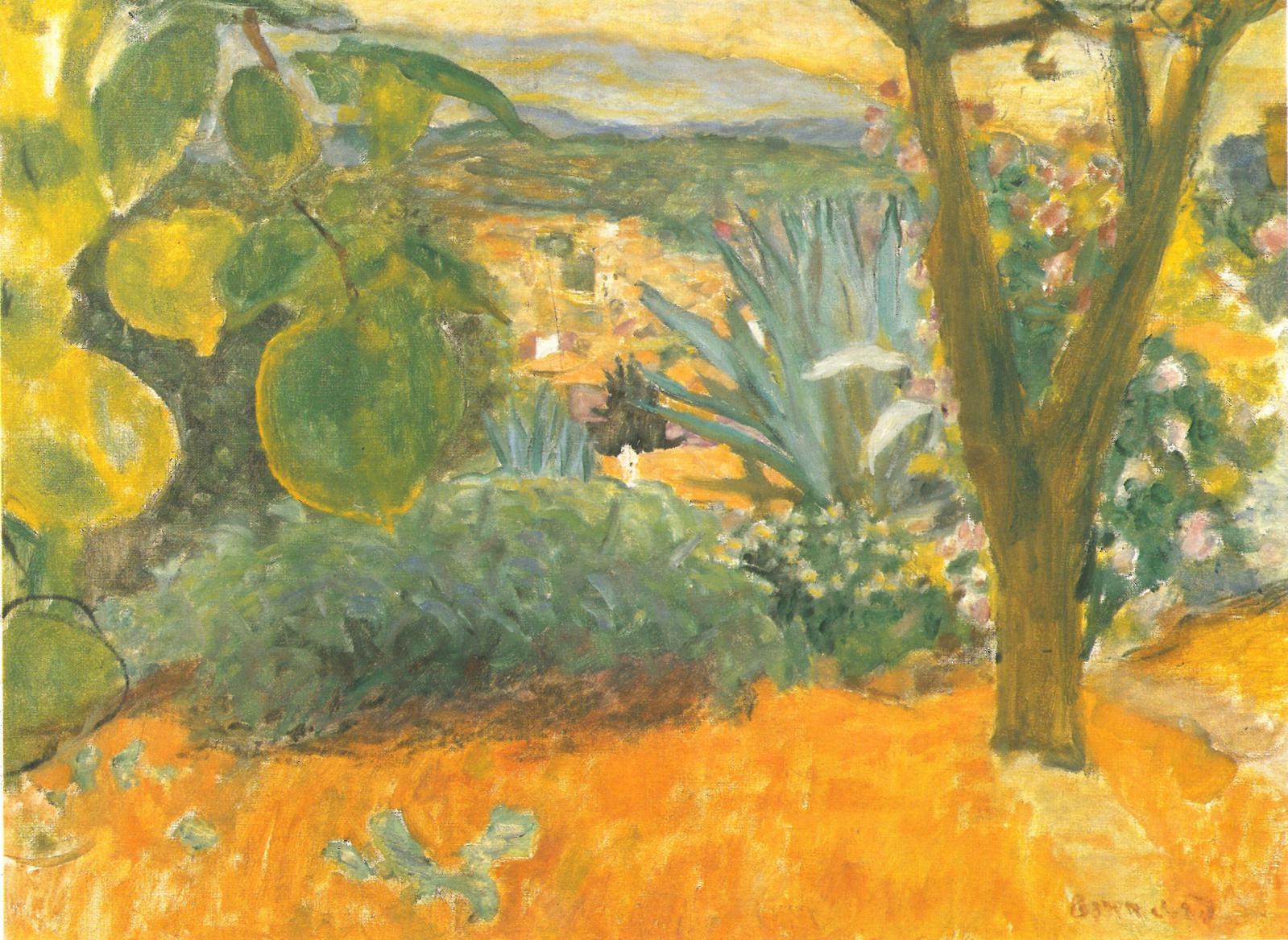 Pierre Bonnard(1867-1947), Le Cannet, 1930, huile sur toile, 54x64,8cm. ©Mathieu Rabeau, RMN - Fondation Bemberg