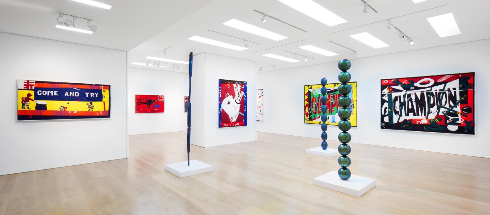 Exposition «Hank Willis Thomas :The Beautiful Game», en 2017 à la galerie Ben Brown Fine Arts de Londres. Courtesy Ben Brown Fine Arts