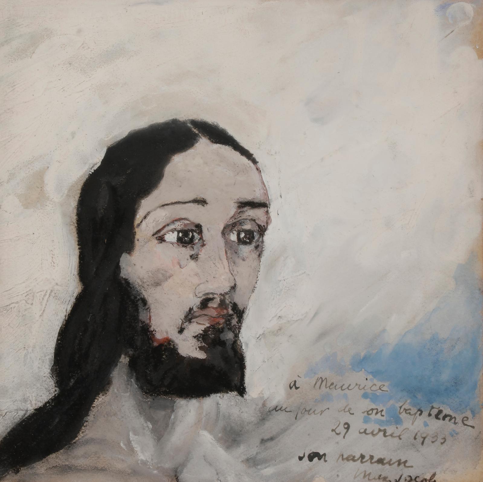 Tête de Christ, 1933, gouache sur carton, 25,5x25,5cm. Estimation: 1500/2000€