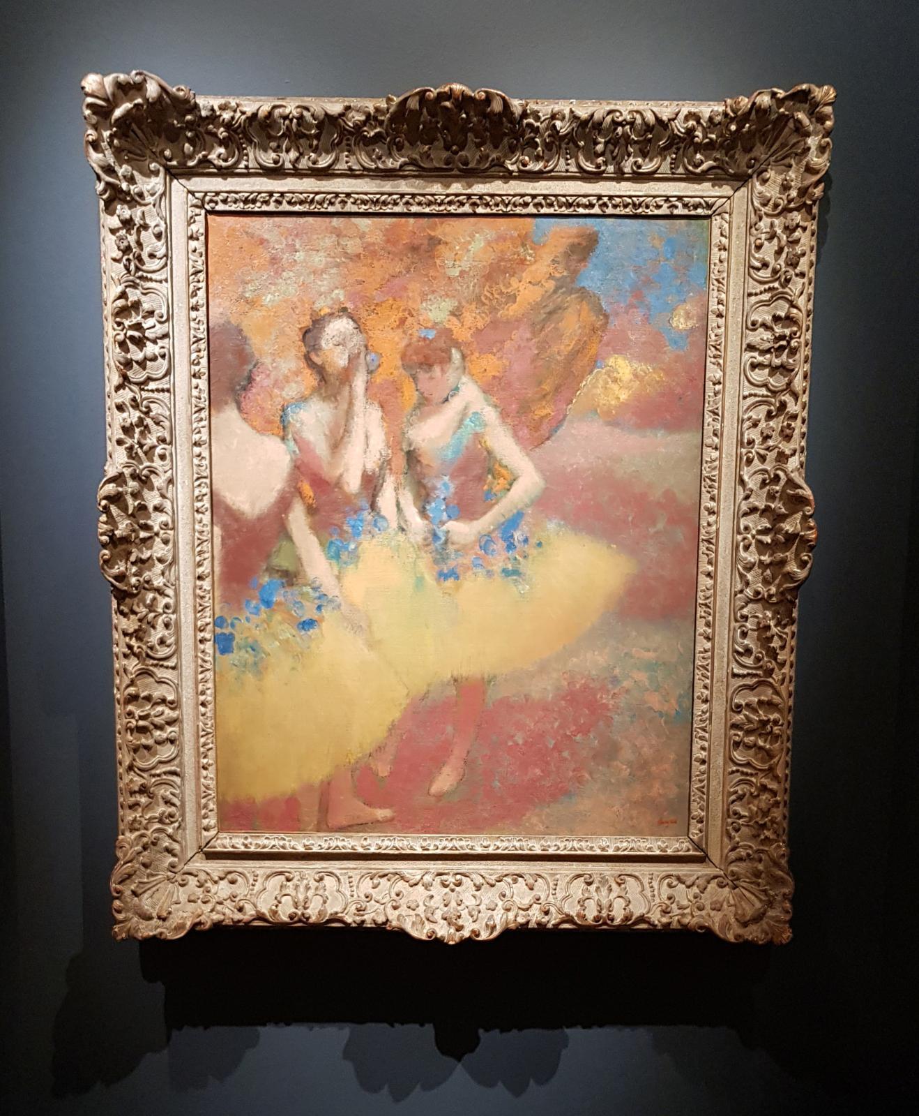 Edgar Degas, Trois danseuses en jupes jaunes, vers 1891, huile sur toile.© Hammer Galleries et Tefaf