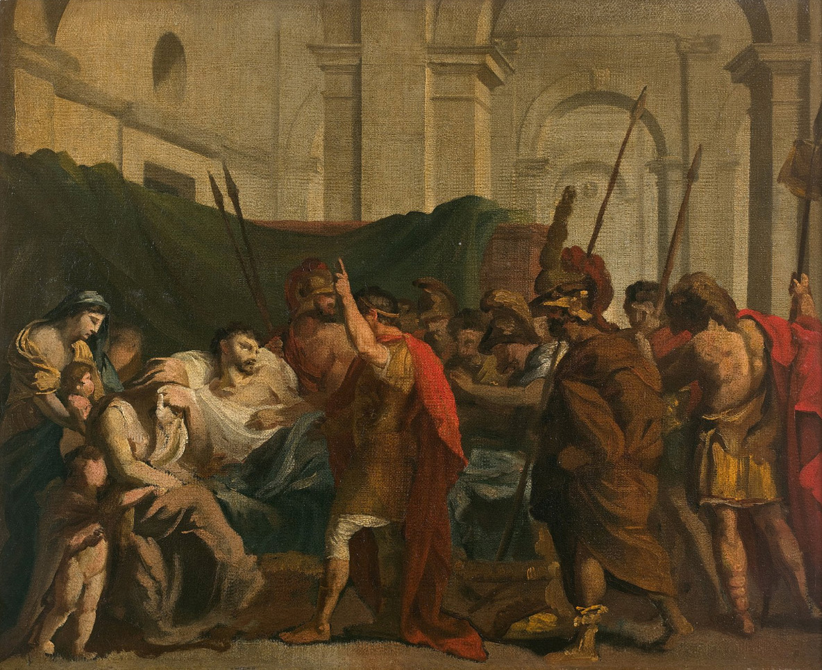 Théodore Géricault (1791-1824), The Death of Germanicus, vers 1811-1812, oil on canvas, 44,9 x 55 cm. Drouot, 1st December 2017. Drouot Es