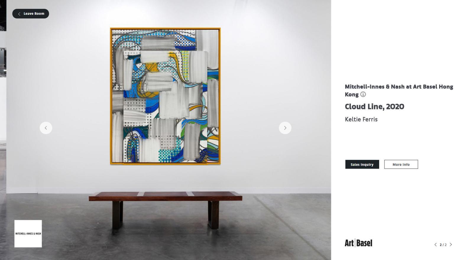 Capture d'écran d'uneviewing room.© Art Basel