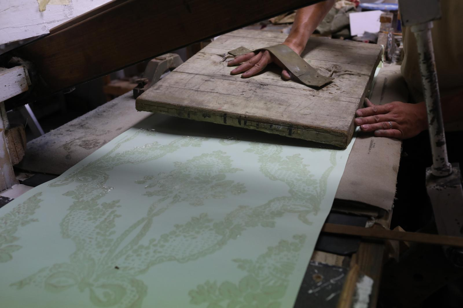 While the factory is famous for its panoramic wallpapers, it has designed 130,000 decorative patterns that can be produced in colour or mo