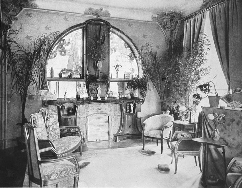 The drawing room, in Art et Décoration, 1902.Nancy, Musée de l'Ecole de Nancy © MEN 2019