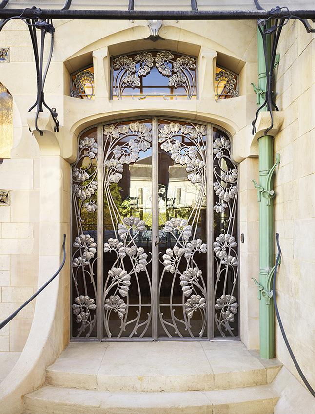 Front door of the Villa Majorelle© MEN. Cliché Siméon Levaillant, 2020
