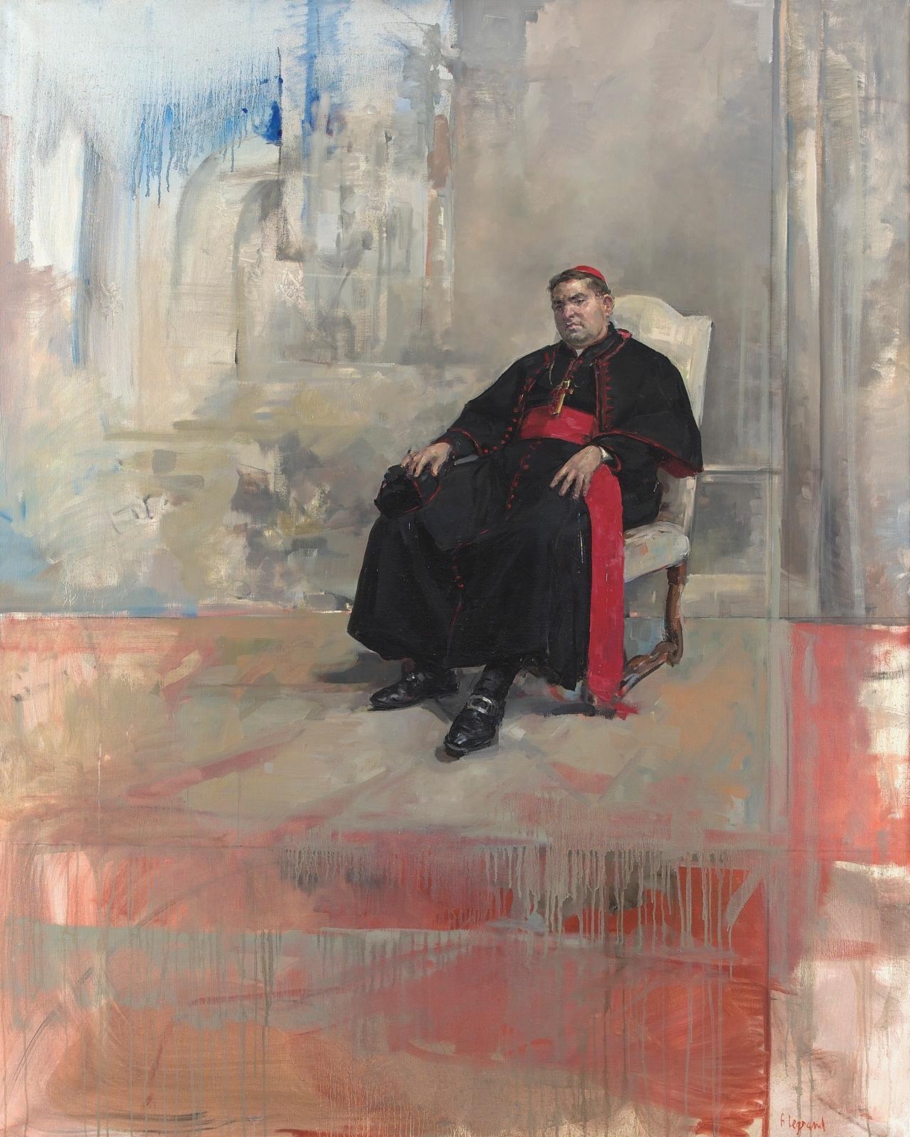 Cardinal, 1992, huile sur toile, 162x130cm. © François Legrand