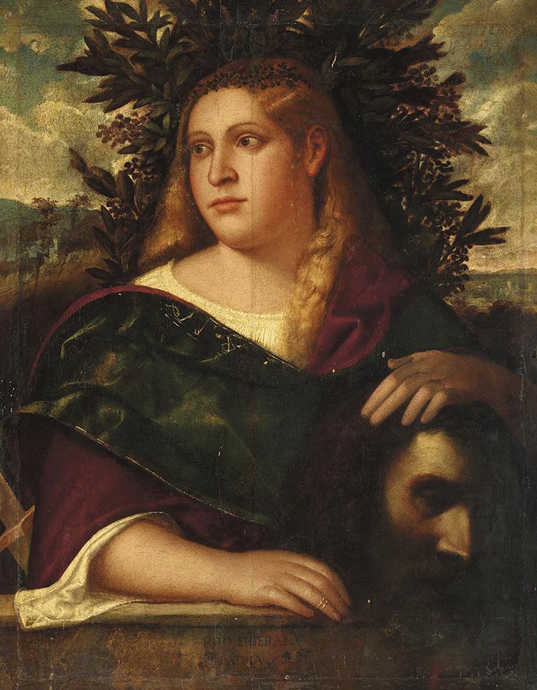 Dans ce portrait de Judith tenant la tête d'Holopherne, il flotte comme un air de Vénétie. La marque de Sebastiano del Piombo est ainsi cl
