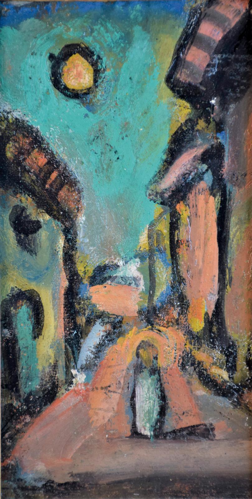 Georges Rouault (1871-1958) s'était égalementinvité à Rouen avec cette toile de petitesdimensions (26x14cm), qui n'en contenaitpas m