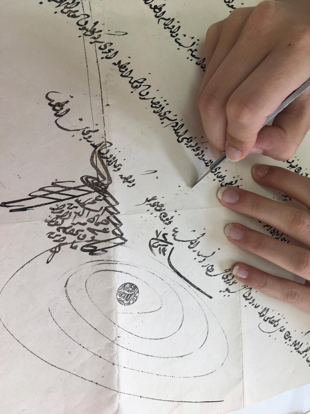Chantier-école au Centre de recherche et de restauration du patrimoine des Églises d'Orient au Liban pour les élèves restauratrices en spé