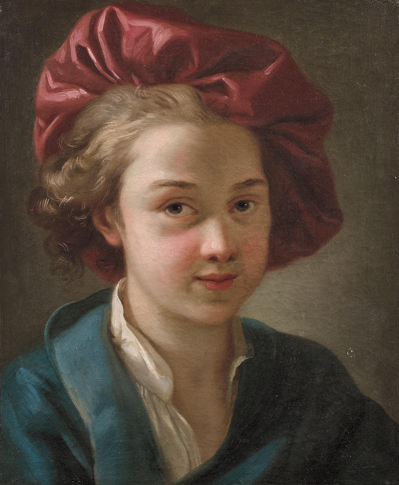 Joseph-Marie Vien (1716-1809), Portrait de Jean-Marie Vien,fils de l'artiste, huile sur toile, 46x37,5cm. Adjugé: 22320€