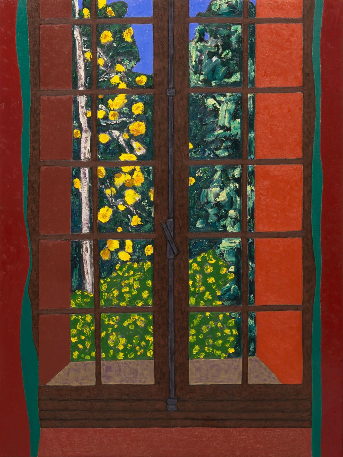 Vincent Bioulès (né en 1938), L'Été indien, 2018, huile sur toile, 130x97cm (détail).