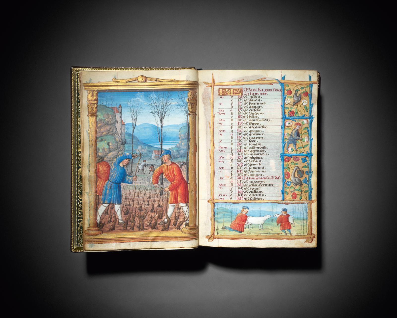 France, très certainement Bourges, vers 1500-1510. Livre d'heures à l'usage de Rome, manuscrit en latin et en français enluminé sur parche
