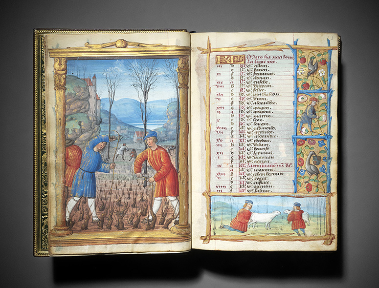 France, very certainly Bourges, c. 1500-1510, Book of Hours according to the Roman rite, illuminated parchment manuscript in Latin and Fre