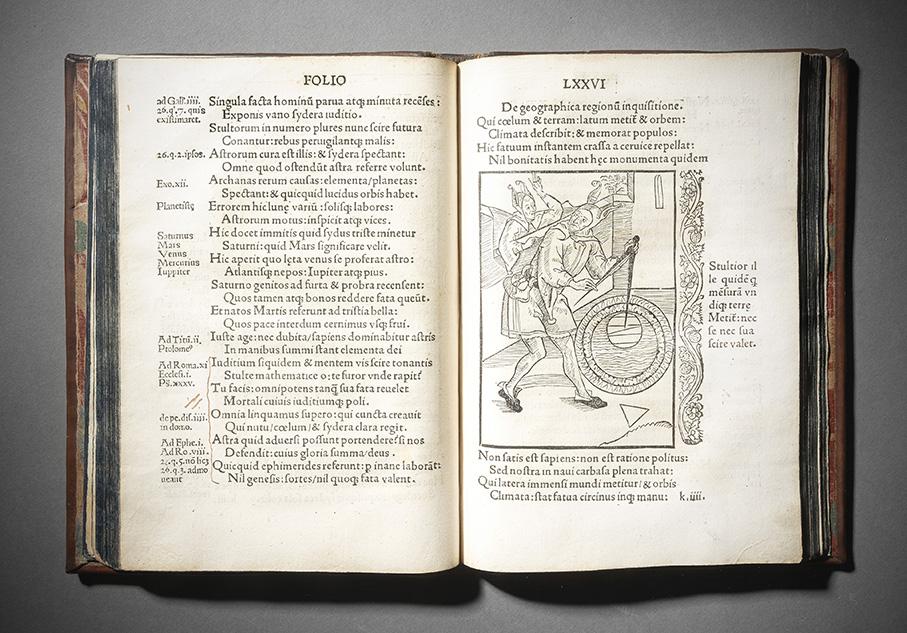 Sébastien Brant (1458-1521), Stultifera Navis, Basel, Johannes Bergmann de Olpe, March 1497, in-4, English binding in fawn Russian leather